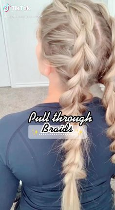 Work Hairstyles, Easy Hairstyles For Long Hair, Braids For Long Hair, Hair Up Styles, Brown Blonde Hair, Hair Styler, Hair Videos, Hair Looks, Hair Inspiration