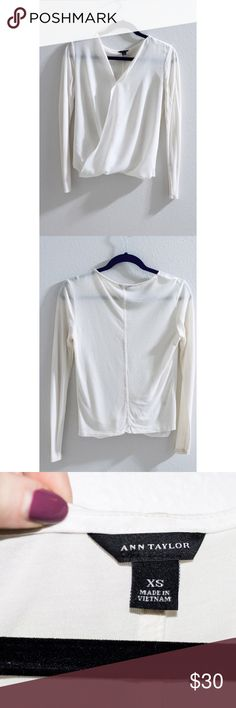 Ann Taylor Silky Wrap Blouse This beautiful lightweight silky wrap blouse is from Ann Taylor. Size: XS. In perfect condition. Ann Taylor Tops Blouses