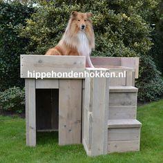 #hondenhok #steigerhout #trimtafel Dit hok kan uitstekend gebruikt worden als trimtafel. Hondenhok DJ