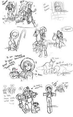 Toy Story Livestream Sketches2 by YoukaiYume.