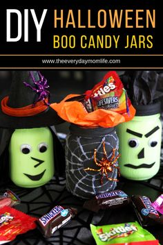Be The Treat In Someone's Halloween With These DIY Candy Jars.