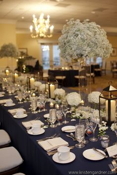Preppy navy and green wedding at Belmont Country Club from Dogwood Events and Kristen Gardner Photography.