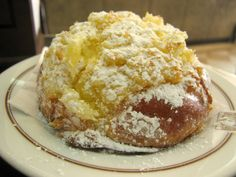 "'Pão de Deus'- ""Bread of God"" sweet bread with coconut and powdered sugar :)"
