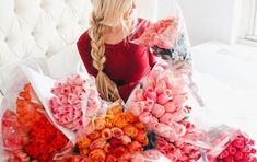 Find everything from romantic Valentine's cocktails to dessert and dinner recipes, stunning romantic tablescapes and more! Gerbera, Amber Fillerup, Office Plants, Floral Arrangements, Beautiful Flowers, Beautiful Bouquets, Fresh Flowers, Beautiful Images, Pink Flowers