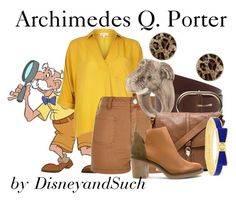 """""""Archimedes Q. Porter"""" by disneyandsuch ❤ liked on Polyvore featuring GUESS, River Island, Frame Denim, Nach, Foley + Corinna, Kate Spade, Miista, disney, fathersday and Tarzan"""