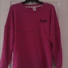 Pink sweatshirt Good condition, size small PINK Victoria's Secret Tops Sweatshirts & Hoodies