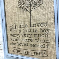 Giving tree quote.                                                       …