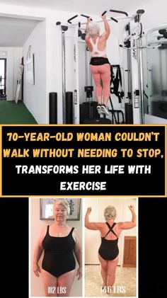 In 2016, 70-year-old Joan MacDonald was overweight and out of shape. She faced an uncertain, likely harsh future reality. Her daughter then approached her, almost in tears, to lose weight to ensure a longer life. Clearly coming from a place of love, she mentioned that she didn't want to see her mother suffer with expensive medical bills and a lower quality of life in her older age, like she's seen countless times before. Eye Mekup, 70 Year Old Women, Exercises, Workouts, Bow Pillows, Fire Nails, Out Of Shape, Korma, Cool Hair Color