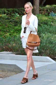 Кейт Босуорт с сумкой Tod's в Нью-Йорке