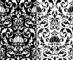 Classic Black & White Pattern Royalty Free Stock Vector Art Illustration