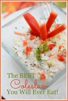 The best cole slaw you will ever eat! Copycat Recipes, Pizza Recipes, Salad Recipes, Sandwiches, Coleslaw Mix, Summer Salads, Summertime Salads, Soup And Salad, The Best
