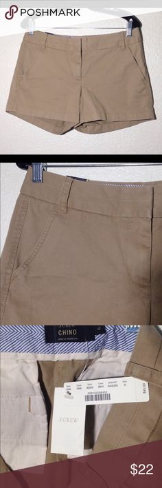 26bb3b40774 Crew Chino Shorts Inseam Here s a nice NWT Ladies  NWT J. Crew Chino Shorts  with Inseam