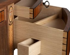 Secret drawers are one of the most challenging features to include in a piece of furniture. Woodworking Box, Woodworking Furniture, Wood Furniture, Woodworking Projects, Furniture Design, Joinery Details, Got Wood, Art And Craft Design, Dovetail Drawers