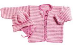 Det søde hue/trøjesæt er perfekt til familiens mindste i løbet af foråret og den tidlige sommer.
