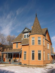 where is this one i wonder?  Old Calgary Home by crossarthur76, via Flickr