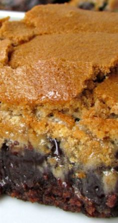 Brownie Mud Hen Bars ~ These are, in a word, sinful. Brownie Recipes, Cookie Recipes, Dessert Recipes, Bar Recipes, Dessert Ideas, Snack Recipes, Easy Desserts, Delicious Desserts, Breads