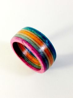 Recycled Skateboard Wood Ring