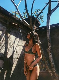 Outdoor showers @doinaciobanu wearing #NastyGalExclusive Nasty Gal x Minimale Animale Bikini || Get the cutout bikinini: http://www.nastygal.com/minimale-animale