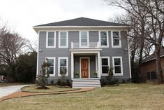 Completely in love with everything about this makeover. It's totally the house I would have picked too! Here's my grey! Clark and Kensington Oyster Pearl