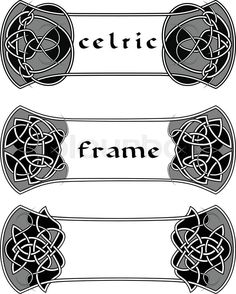Stock vector of 'Frame in Celtic style a vector an element of design'
