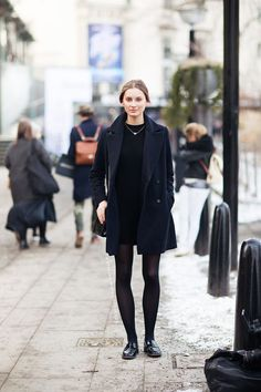loafers with dress and robe coat