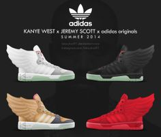 Kanye West x Jeremy Scott x adidas originals Wings by BBoyKai91 on deviantART