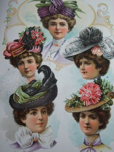 1901 Delineator Midsummer Hats