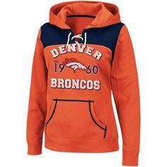 Denver Broncos Ladies Preseason Favorite III Pullover Hoodie - Orange $54.95