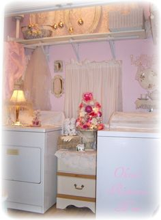 a love affair of shabby chic trash to treasure projects i adore old chippy crusty vintage furniture ok the prettiest dang laundry room chic laundry room