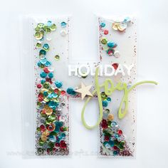 DIY Letter Shaker page for a scrapbook ~ What a fantastic gift for any scrapbooker!