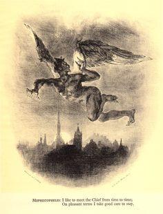 As raras ilustrações de Delacroix para Fausto, de Goethe