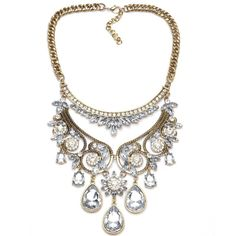 Necklaces : Gold Plated Flower Pendant Statement Choker