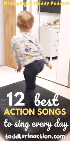 These 12 best action songs are a must for all energetic and active toddlers, preschoolers and kids out there. Consider them as a great way to help your Indoor Activities For Toddlers, Toddler Learning Activities, Sensory Activities, Sensory Diet, Winter Activities, Toddler Videos, Toddler Fun, Toddler Preschool, Toddler Games