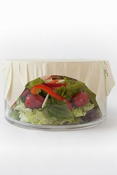 Abeego, natural food saving product to replace plastic wrap/wax paper/plastic dishes.  Form tightly over the top of a dish like plastic cling