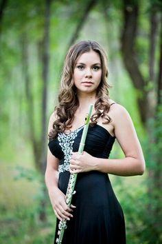 Senior Picture / Photo / Portrait - Musician - Band - Flute