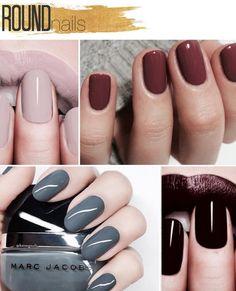 super tendencias para as unhas round nails