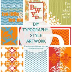 Making Your Own Typography-Style Prints