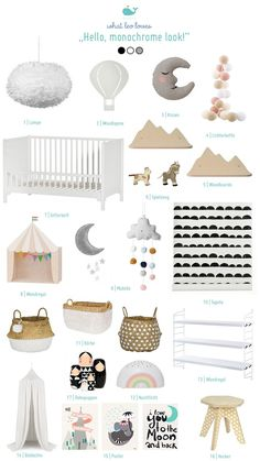 Most up-to-date Free of Charge Monochrome childrens room - so it works! Then you know that their material winds up actually throughout the home! Baby Room Themes, Baby Room Diy, Baby Bedroom, Baby Room Neutral, Nursery Neutral, Nursery Furniture, Nursery Decor, Nursery Inspiration, Kid Beds