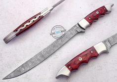 "13.00"" Custom made Awesome Damascus steel fillet Knife (AA-0367-2) #UltimateWarrior"
