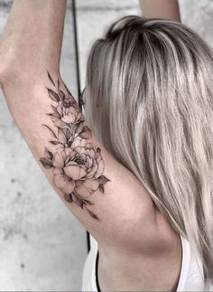 43 Beautiful Penoy Flower Tattoo Design Ideas For Fashion Woman - Page 19 of 43 - Latest Fashion Trends For Woman Elegant Tattoos, Pretty Tattoos, Sexy Tattoos, Unique Tattoos, Beautiful Tattoos, Body Art Tattoos, Girl Tattoos, Sleeve Tattoos, Floral Tattoo Sleeves