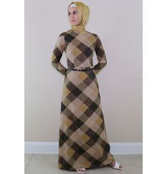 Islamic Women/'s Long Sleeve Floor Length  Puane Modest Floral Dress 2621 Black