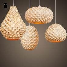 Artisanat Fait Main Bambou Osier Rotin Lanterne Abat Jour Pendentif Luminaire Asiatique Japon Lampe Abajour Eclair Lampe Bambou Lampes Maison Plafond En Bambou