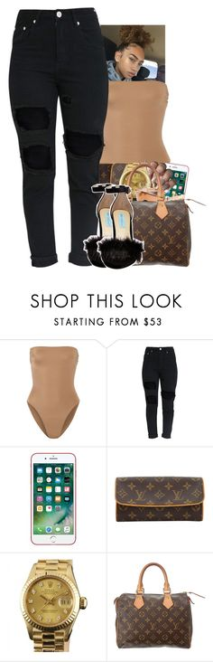 """Untitled #2353"" by txoni ❤ liked on Polyvore featuring Norma Kamali, Louis Vuitton, Rolex and Betsey Johnson"