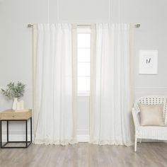 Aurora Home Colorblock Border Linen Blend Curtain Panel Pair - 52 x 84 (White/Spruce), Green Home Curtains, Lined Curtains, Blackout Curtains, Window Treatment Store, Window Treatments, Curtain Styles, Home Decor Outlet, Color Blocking, Aurora