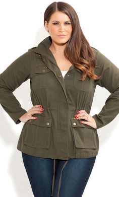City Chic - ADVENTURER JACKET - Women's plus size fashion