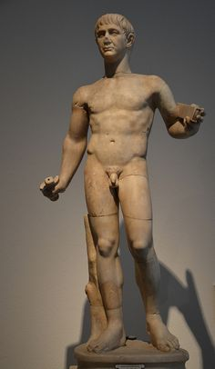 Statuette of Roman Emperor Trajan, early 2nd century AD, Altes Museum, Berlin | da Following Hadrian