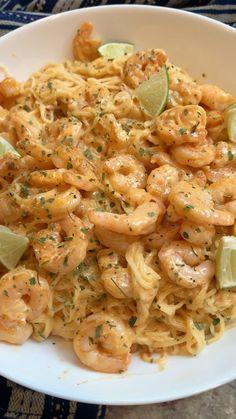 Shrimp Recipes For Dinner, Shrimp Recipes Easy, Seafood Dinner, Seafood Recipes, Cooking Recipes, Healthy Recipes, Pasta Recipes With Chicken, Delicious Pasta Recipes, Italian Food Recipes