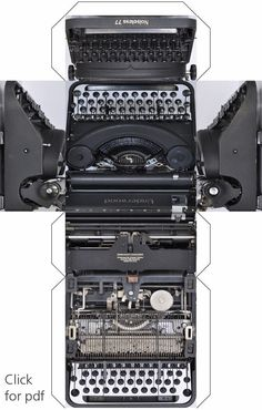Printable :: graphikube typewriter