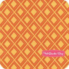 Simply Color Sweet Tangerine Ikat Diamonds Yardage SKU# 10806-16