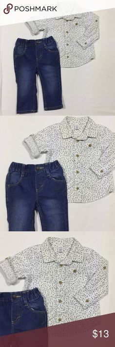 Toddler Boy 12-18 Months Blue GAP Baby Cargo Denim Pants Gray Carpenter